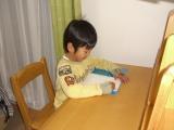 勉強してる風に。