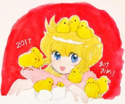 2017年賀 ひよこ珊瑚