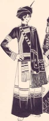 「天空の玉座」崑崙 雲南イ族の民族衣装