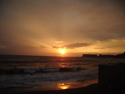 葉山海岸夕日