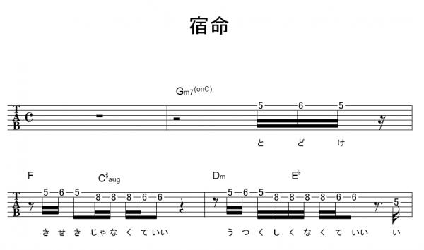 プリ テンダー ギター コード