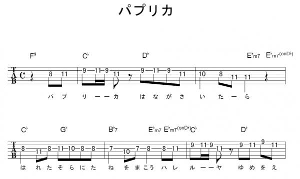 パプリカ ギターコード