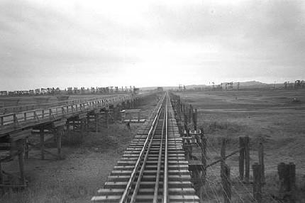 駿遠線-大井川橋脚(1960年当時)