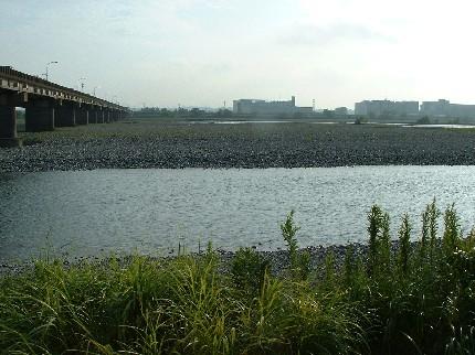 駿遠線-大井川橋脚跡(現在)