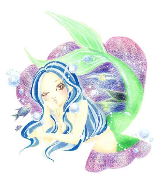 ファンシーイラスト「人魚姫」