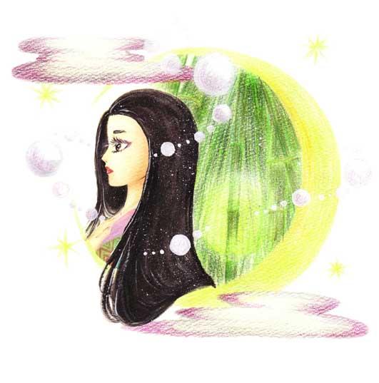 ファンシーイラスト「かぐや姫」