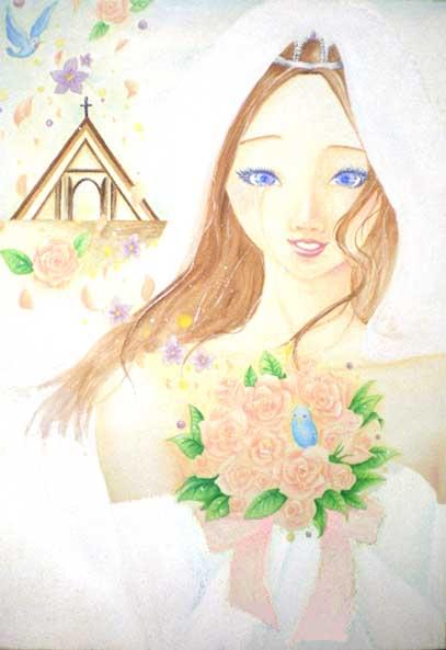 ファッションイラスト「青の幸福」