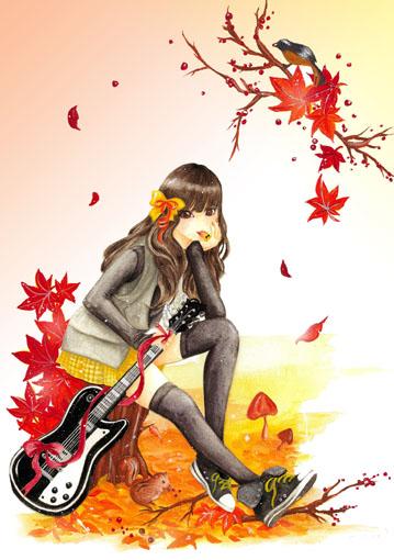 ガールズイラスト「Autumn」