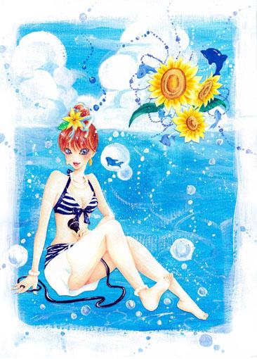 ガールズイラスト「Summer」