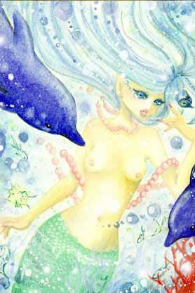 ガールズイラスト「人魚姫」
