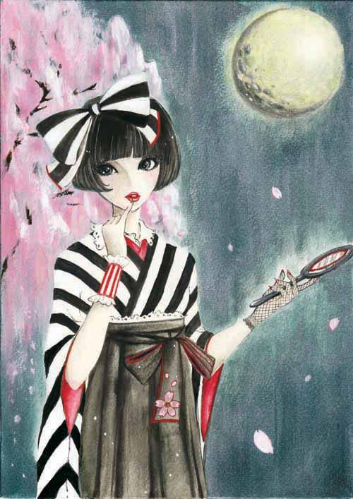 季節イラスト「紅桜」