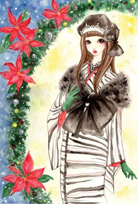 ガールズイラストクリスマス