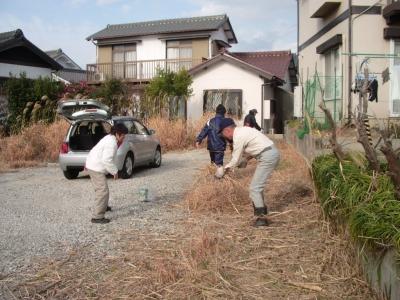 空地の草刈作業?