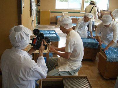 日本テレビ「笑ってこらえて」取材in稲庭宝泉堂