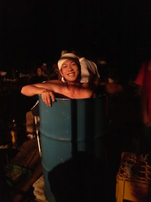 湯沢JC 試ソーヤ冒険輝☆キャンプ実習 ドラム缶風呂