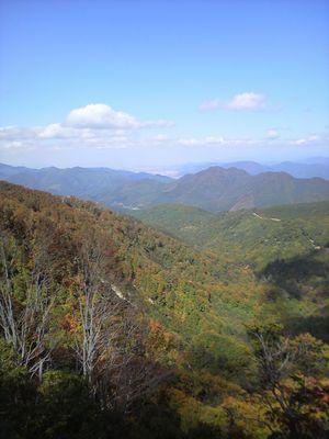 秋田県湯沢市の風景 紅葉2