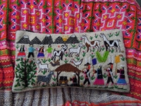 南米の刺繍 タイのスカート