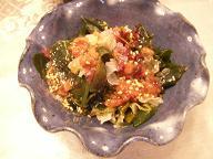 梅肉の海草サラダ