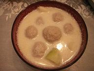 豆乳団子スープ