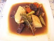 バルサミコ風味のビーフシチュー