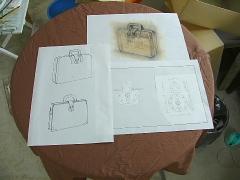 バッグのデザインパースと企画書