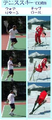 テニス スキー上達comのタイトル画像