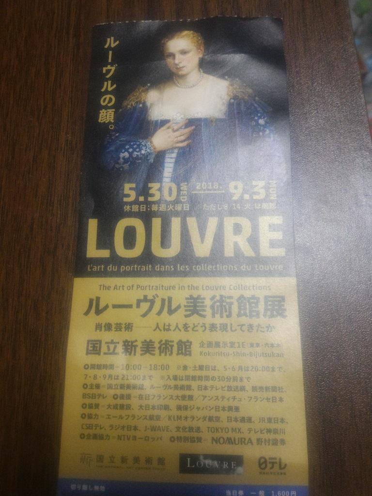 ルーブル美術館展チケット