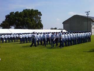 2011群馬県消防学校訓練査閲 姿勢服装検査