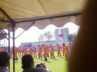 2011群馬県消防学校訓練査閲 体力向上体操1