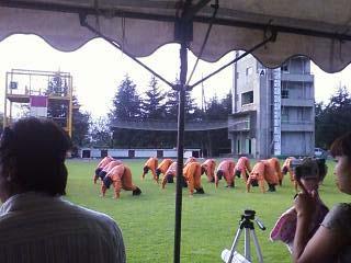2011群馬県消防学校訓練査閲 体力向上体操3