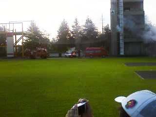 2011群馬県消防学校訓練査閲 建物火災想定訓練1