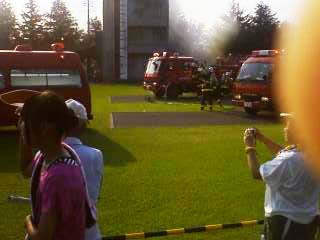 2011群馬県消防学校訓練査閲 建物火災想定訓練2