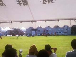 2011群馬県消防学校訓練査閲 建物火災想定訓練3