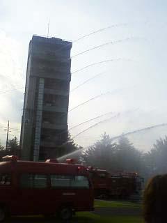 2011群馬県消防学校訓練査閲 建物火災想定訓練4