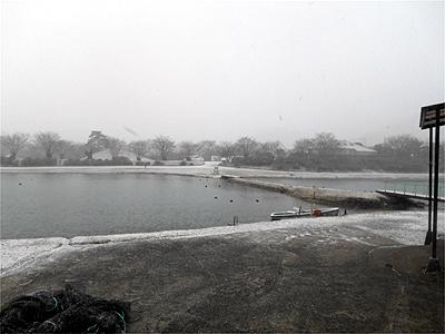加賀フィッシングエリア 1月20日雪