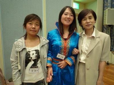 応援にきた永石先生と張さん安さん