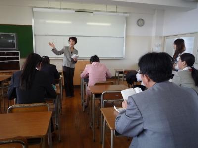 学生部長の説明