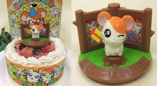 とっとこハム太郎 キャラデコ バースデーケーキ 生クリーム苺ケーキ