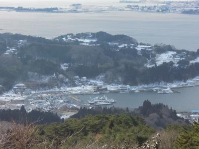 冬の大島(亀山山頂より)