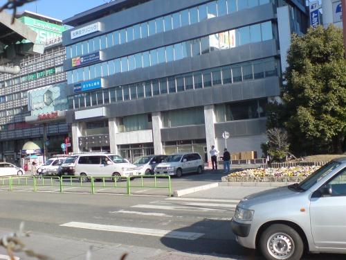駅構内から見た姫路市街2