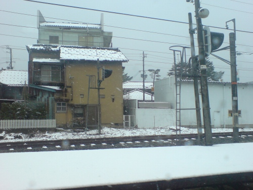 雪景色になった