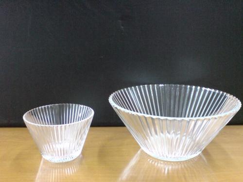 ガラス鉢の親子
