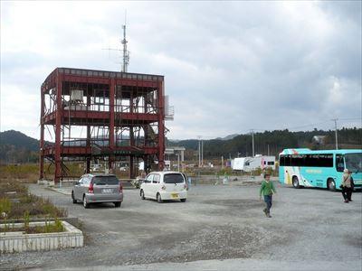 避難放送をした防災庁舎、南三陸町