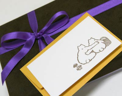 バレンタインチョコにカードを添えましょう
