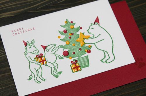 活版 クリスマスカード