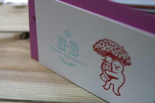 誕生日に活版カード