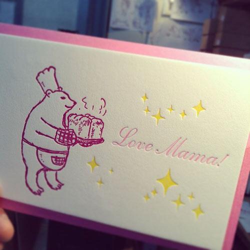 活版母の日カード