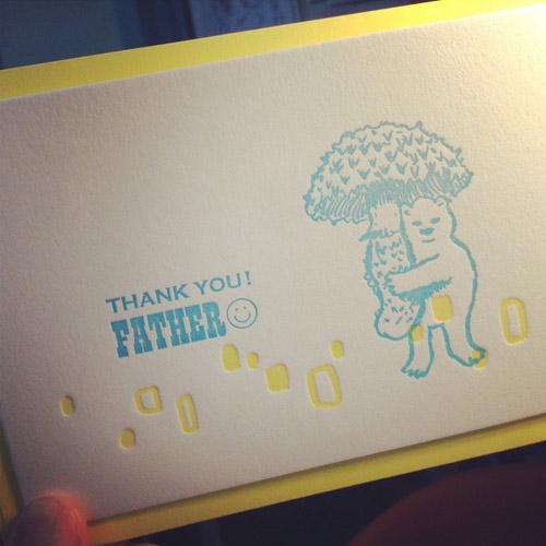 河童堂の父の日カード