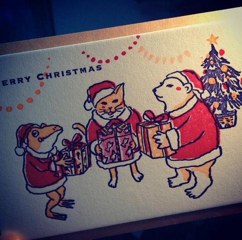 活版クリスマスカード