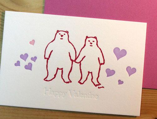 活版バレンタインカード